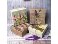 Подарочная коробка  с декупажем (15х15 см)